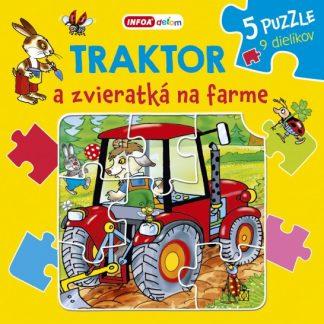 Traktor a zvieratká na farme - puzzle