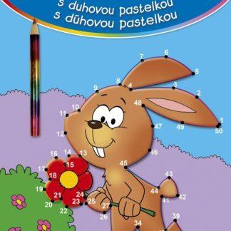 Spojovačky s dúhovou pastelkou zajac