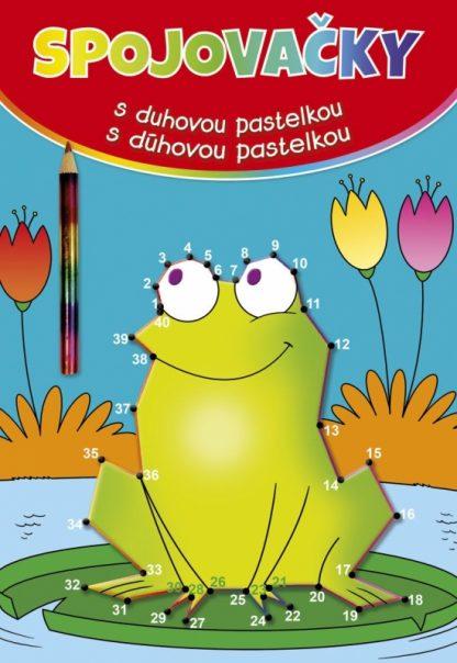 Spojovačky s duhovou pastelkou/s dúhovou pastelkou žaba